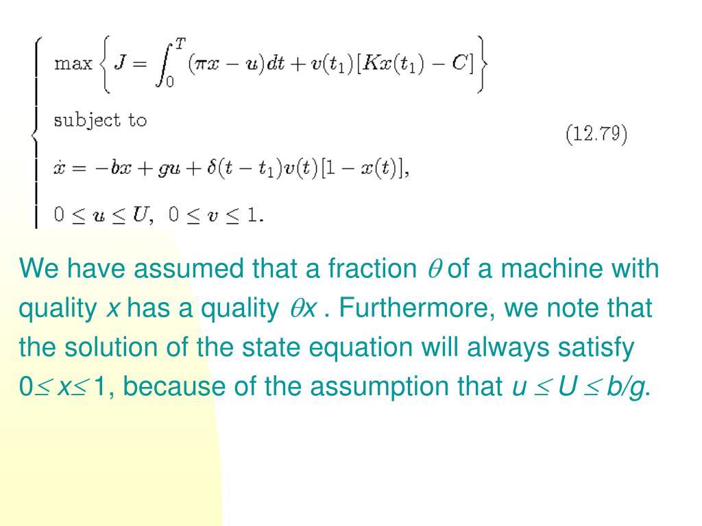 We have assumed that a fraction