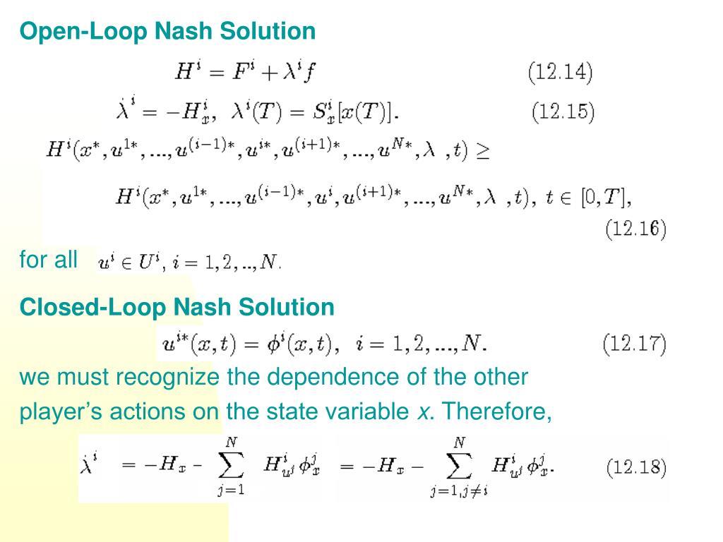 Open-Loop Nash Solution