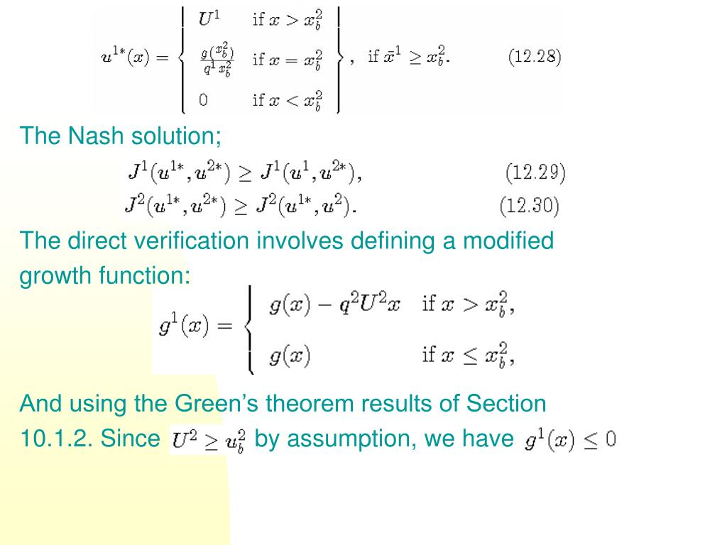 The Nash solution;