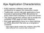 ajax application characteristics34