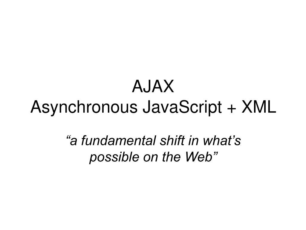 ajax asynchronous javascript xml l.
