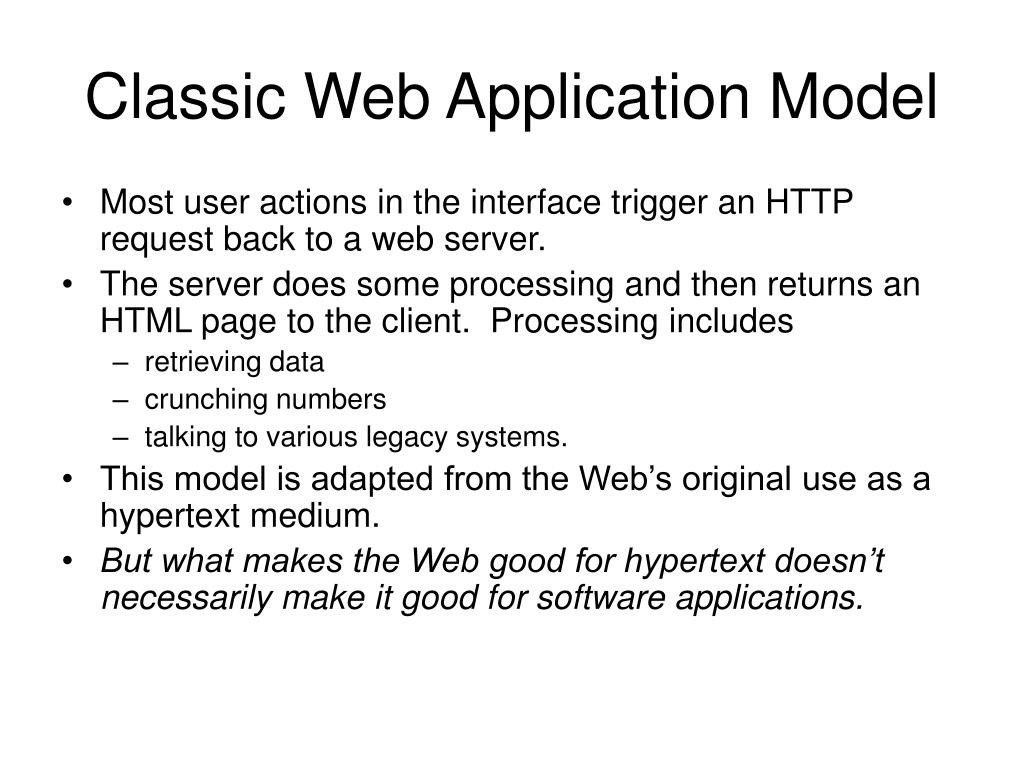 Classic Web Application Model