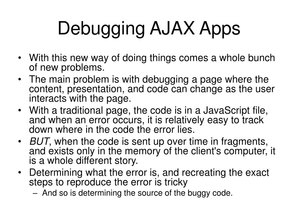 Debugging AJAX Apps