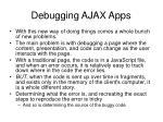 debugging ajax apps