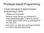 prototype based programming