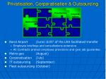 privatisation corporatisation outsourcing