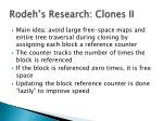 rodeh s research clones ii