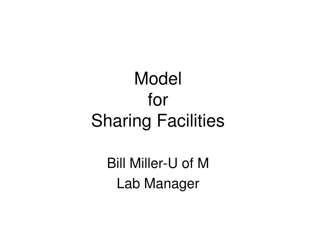 model for sharing facilities l.