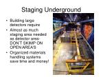 staging underground