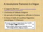 a revuluzione francese e lingue