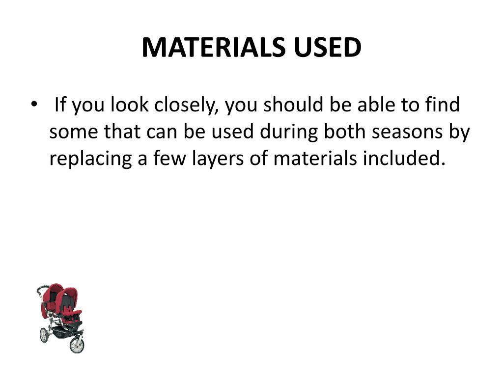 MATERIALS USED
