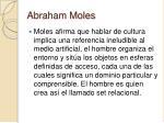 abraham moles25