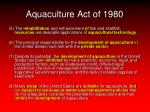 aquaculture act of 19809