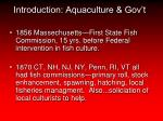 introduction aquaculture gov t
