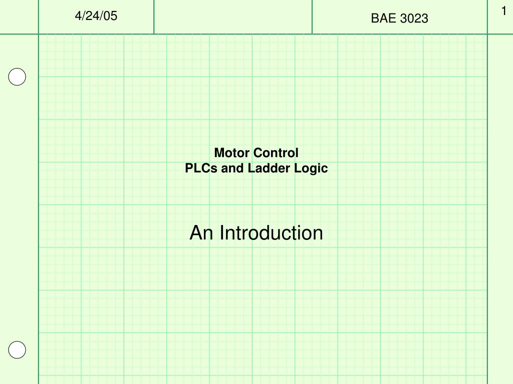 motor control plcs and ladder logic l.