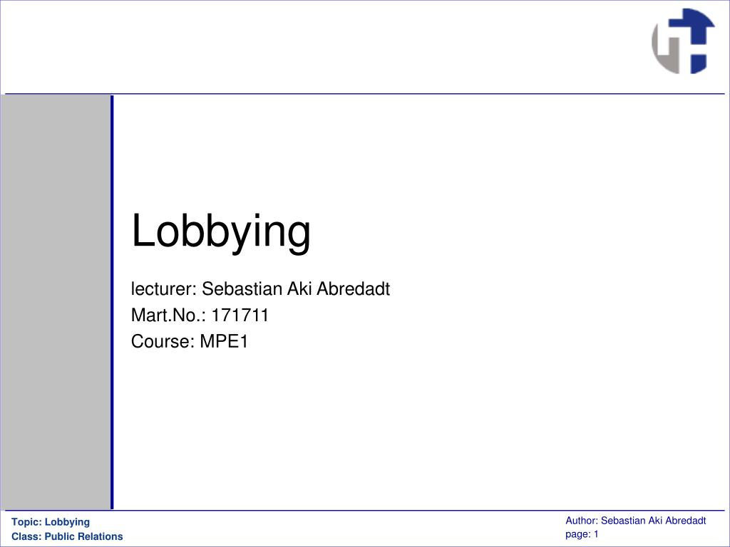 lobbying l.