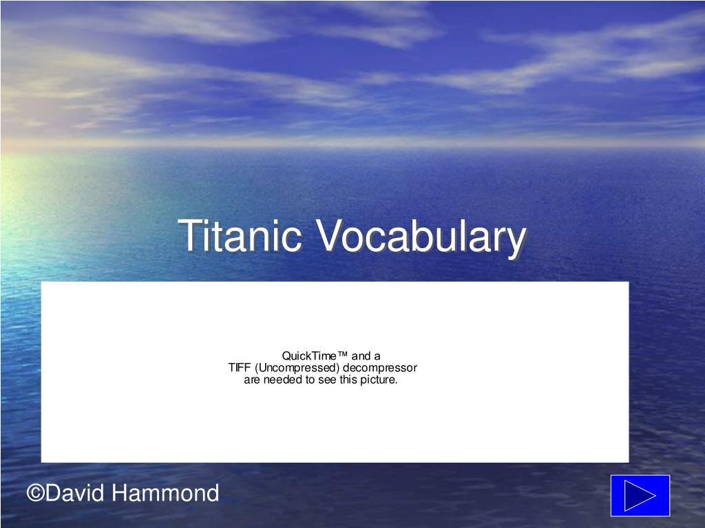 titanic vocabulary l.