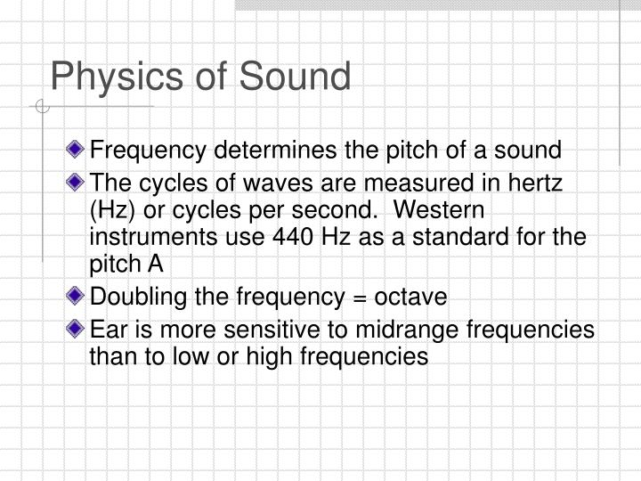 Physics of sound3
