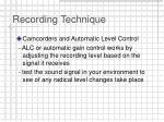 recording technique15