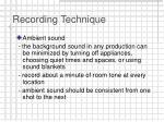 recording technique16
