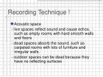 recording technique18