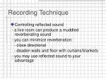 recording technique19