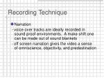 recording technique21