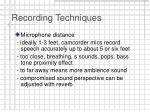 recording techniques13
