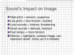 sound s impact on image