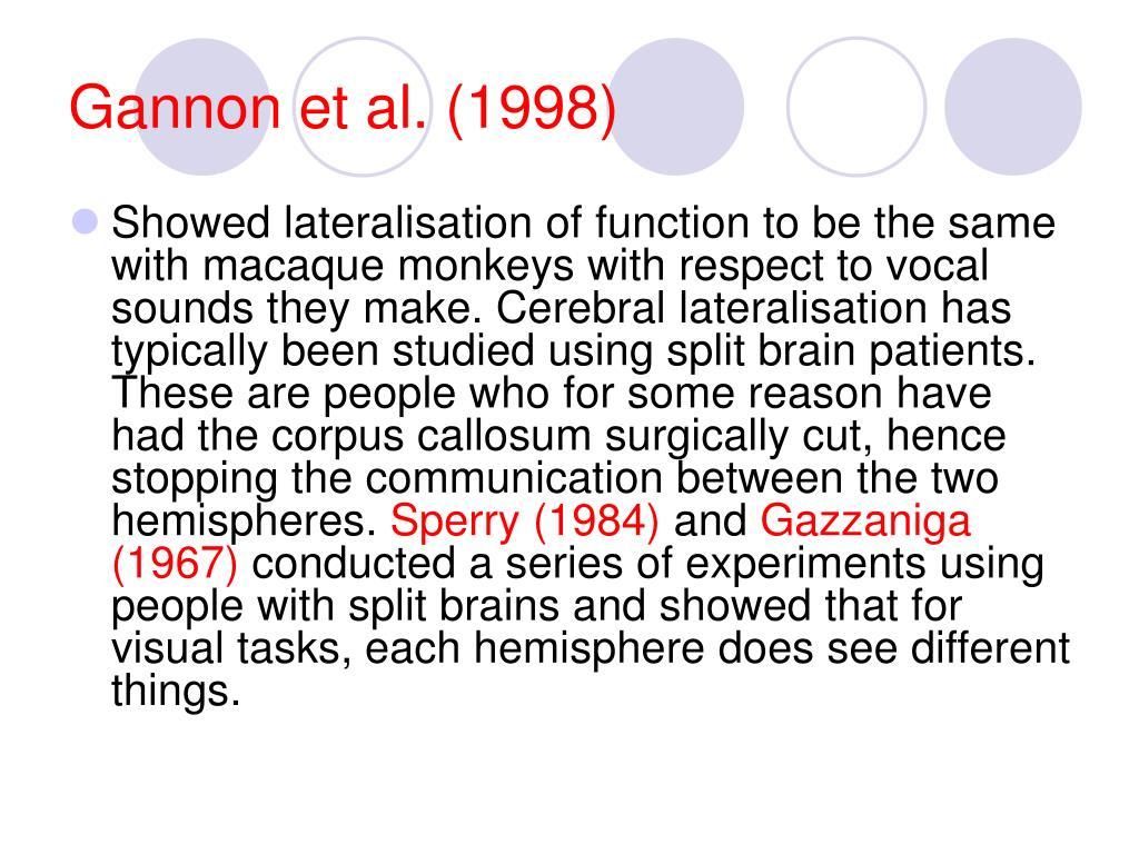Gannon et al. (1998)