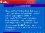 class mandates