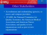 other stakeholders11