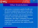 other stakeholders12