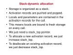 stack dynamic allocation