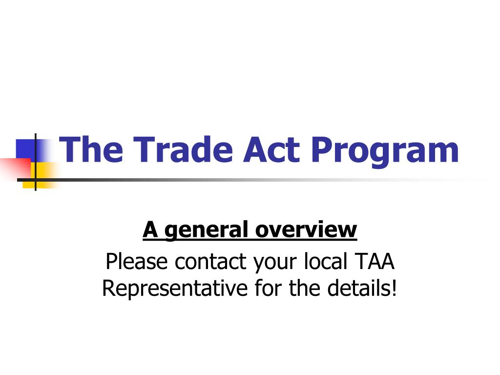 the trade act program l.