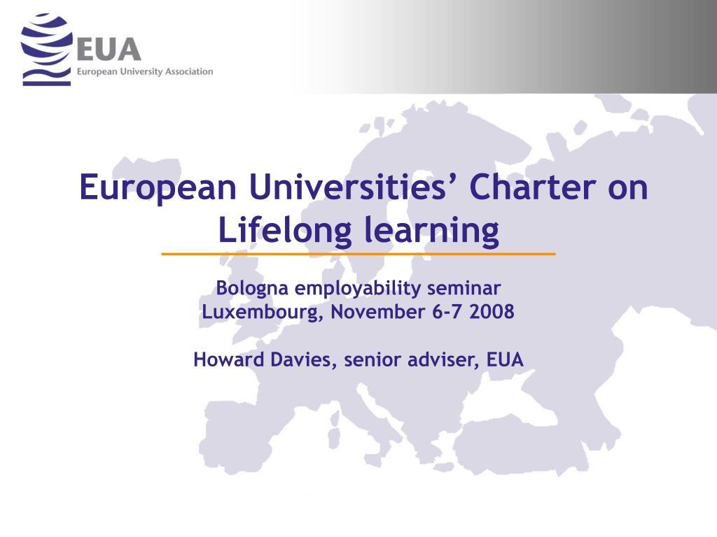 european universities charter on lifelong learning l.
