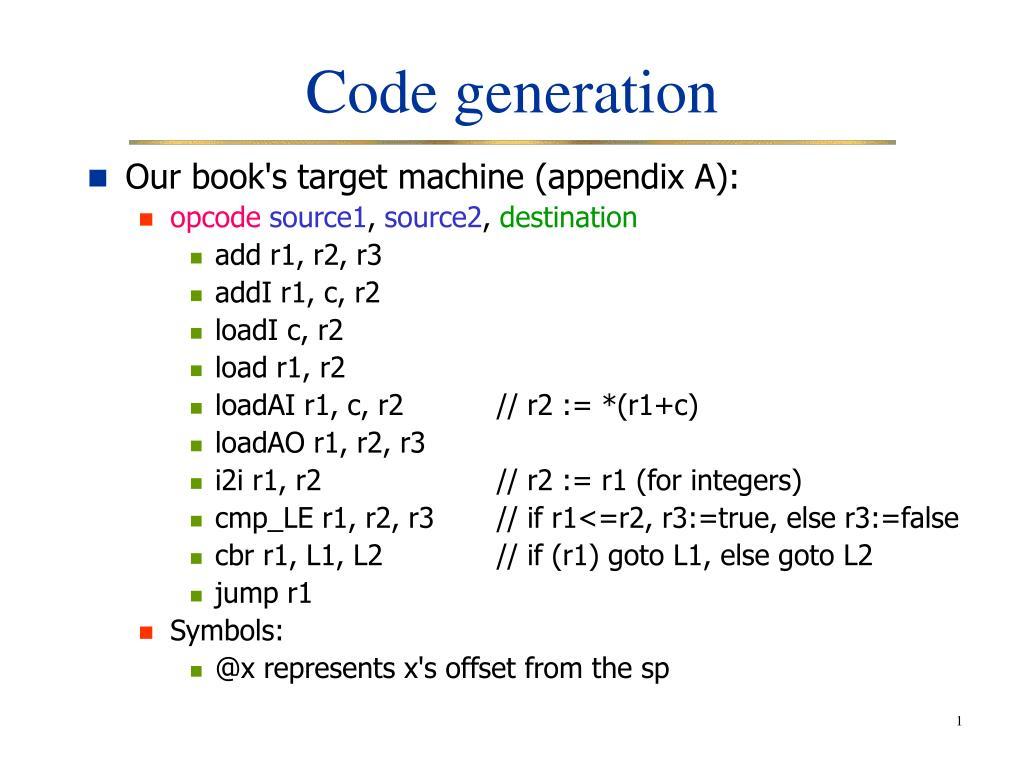 code generation l.
