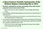 a mean variance portfolio optimization of the western region s generating mix to 201329