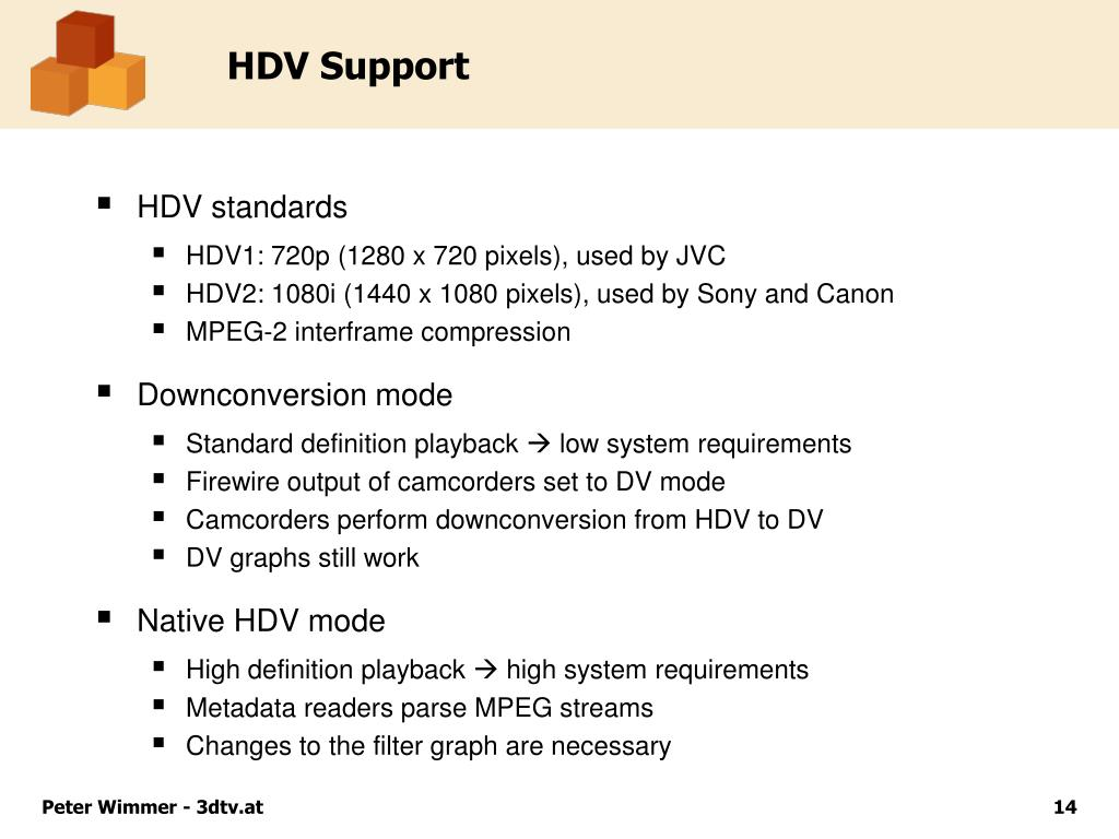 HDV Support