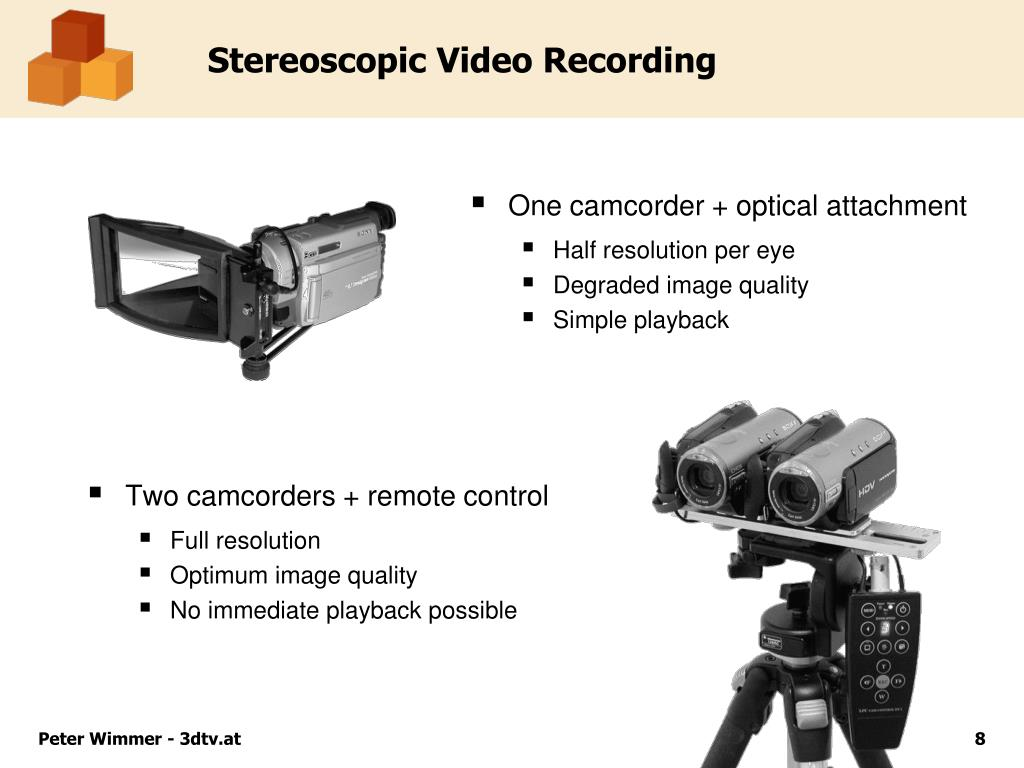 Two camcorders + remote control