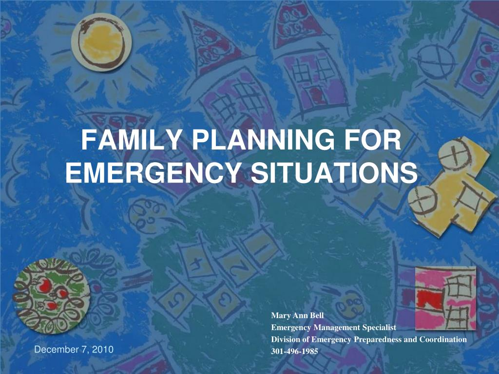 family planning for emergency situations l.