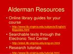 alderman resources