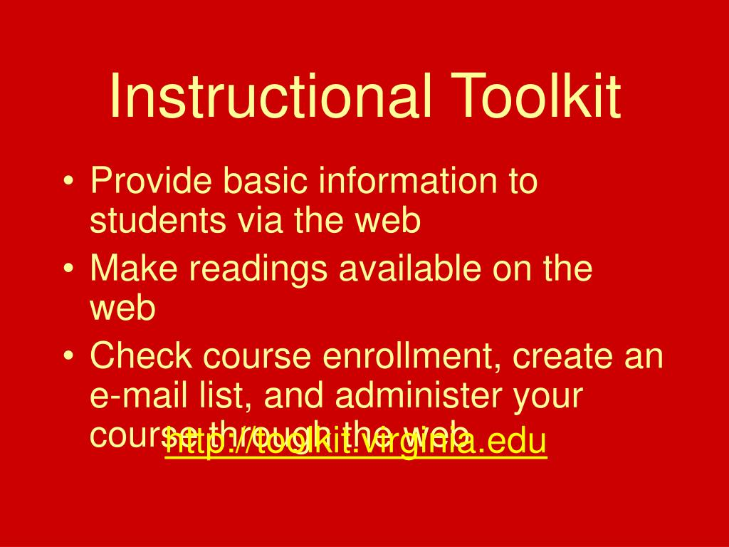 Instructional Toolkit
