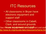 itc resources