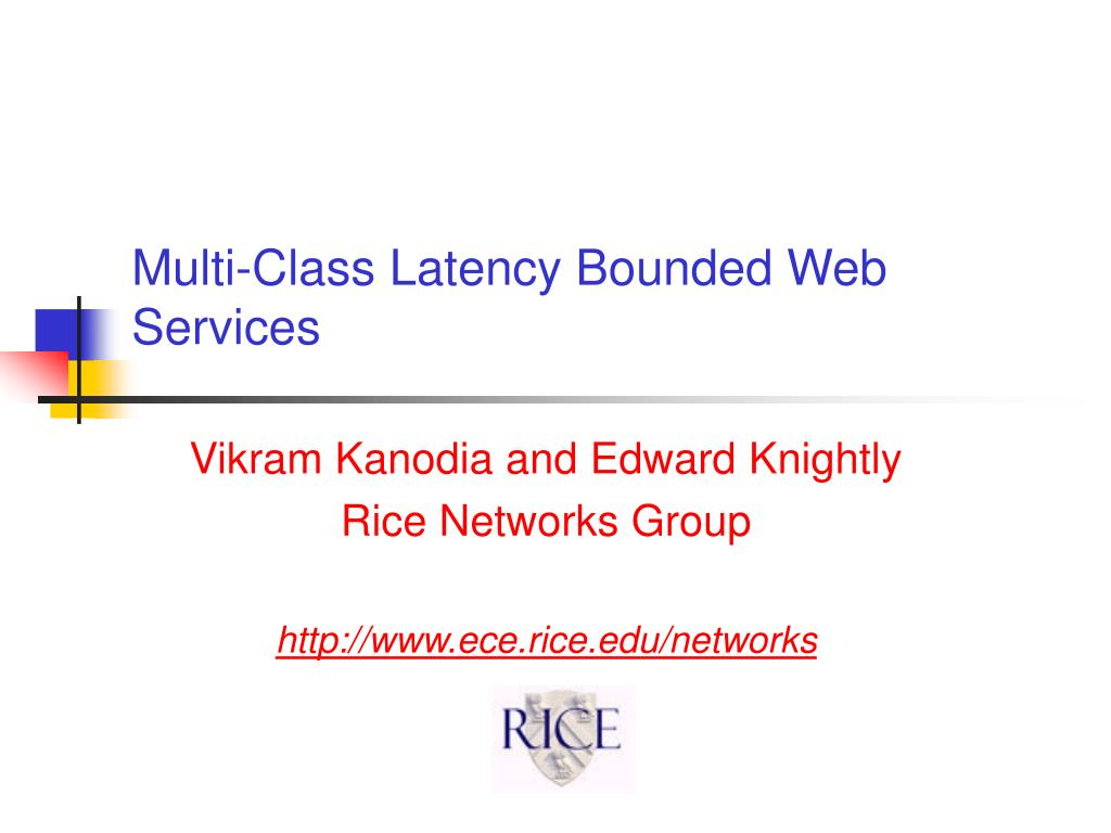 multi class latency bounded web services l.