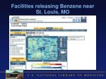 facilities releasing benzene near st louis mo