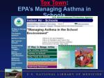 tox town epa s managing asthma in schools