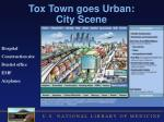 tox town goes urban city scene