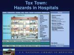 tox town hazards in hospitals