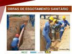 obras de esgotamento sanit rio